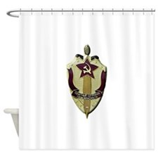 KGB Badge Shower Curtain