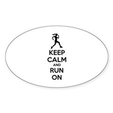 Keep calm and run on Decal