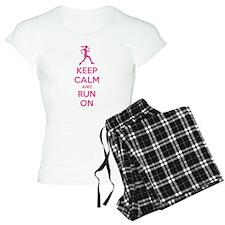 Keep calm and run on pajamas