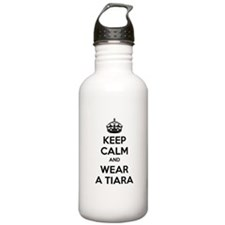 Keep calm and wear a tiara Sports Water Bottle