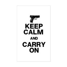 Keep Calm Carry On Decal