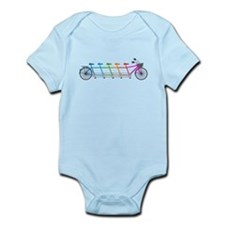 colorful tandem bicycle, team bike Body Suit