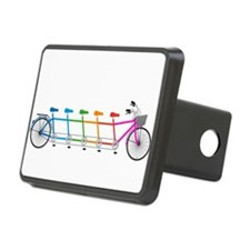 colorful tandem bicycle, team bike Hitch Cover