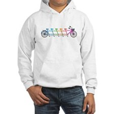 colorful tandem bicycle, team bike Hoodie