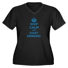 Keep calm and start drinking Women's Plus Size V-N