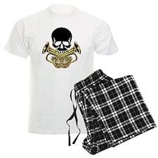 Skull with Tuba Crossbones Pajamas