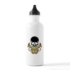 Skull with Tuba Crossbones Water Bottle