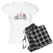tandem bicycle with cute love birds, vector Pajama