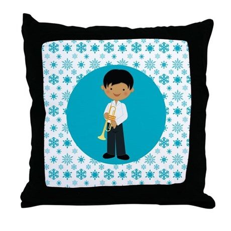 Trumpet Player boy Gift Throw Pillow