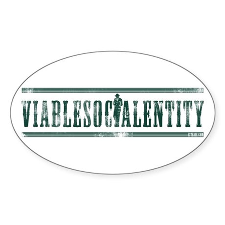 Viable Social Entity Oval Sticker