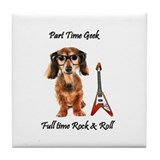 part time geek - Full time rock and roll Tile Coas