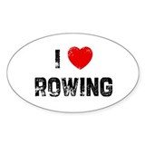 I * Rowing Oval Decal