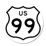 US 99 Car Magnet