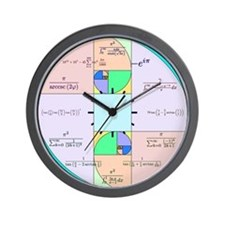 Golden Ratio Math Clock Wall Clock