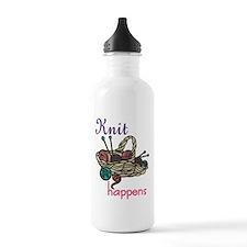 Knit Happens Water Bottle