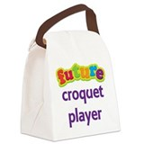 Future Croquet Player Canvas Lunch Bag