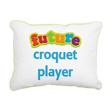 Future Croquet Player Rectangular Canvas Pillow