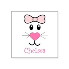 Bunny face customized Sticker