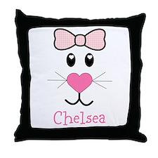Bunny face customized Throw Pillow
