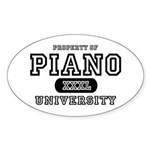 Piano University Oval Sticker