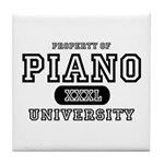 Piano University Tile Coaster