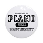 Piano University Ornament (Round)