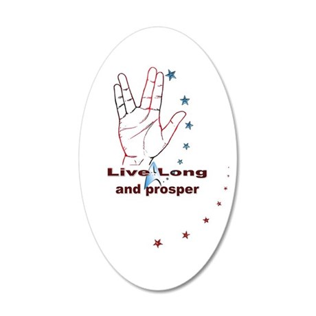 Live Long and Prosper: 35x21 Oval Wall Decal