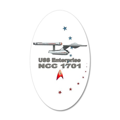 USS Enterprise: 35x21 Oval Wall Decal