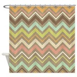 Pretty Zigzag Pattern Shower Curtain
