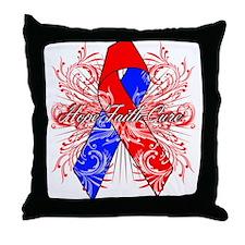 Hope Congenital Heart Defect Throw Pillow