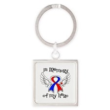In Memory of My Hero CHD Square Keychain