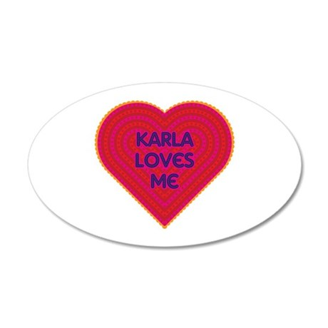 Karla Loves Me Wall Decal