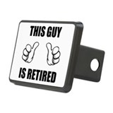 This Guy Is Retired Rectangular Hitch Cover
