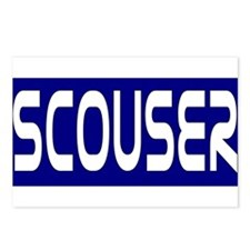 Scouser White on Bl... Postcards (Package of 8)