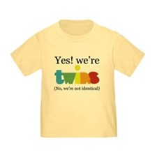 Yes! We're Twins (Fraternal) T-Shirt