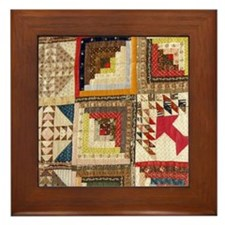 Cute Quilting mom Framed Tile