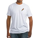 Football on Fire Fitted T-Shirt