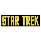 Star Trek Yellow Bumper Sticker