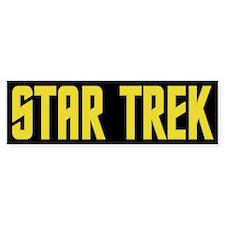Star Trek Yellow Bumper Sticker