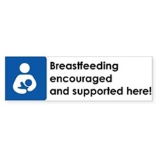 Breastfeeding Encouraged Bumper Bumper Sticker