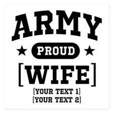 Army Wife/Aunt/Uncle 5.25 x 5.25 Flat Cards