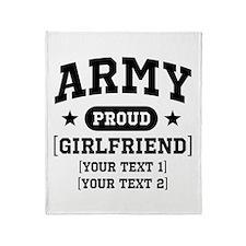 Army grandma/grandpa/girlfriend/in-laws Throw Blan