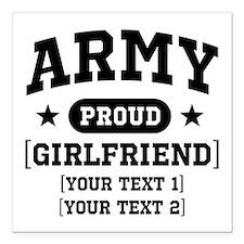 Army grandma/grandpa/girlfriend/in-laws Square Car