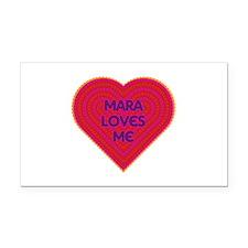 Mara Loves Me Rectangle Car Magnet