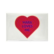Mara Loves Me Rectangle Magnet (10 pack)