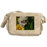 Funny Floral Messenger Bag