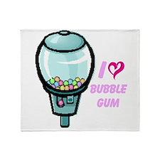bubble gum day Throw Blanket