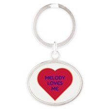 Melody Loves Me Oval Keychain
