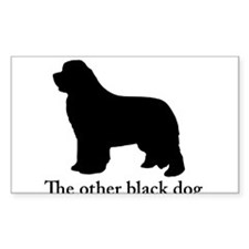 Newfoundland : The other black dog Decal