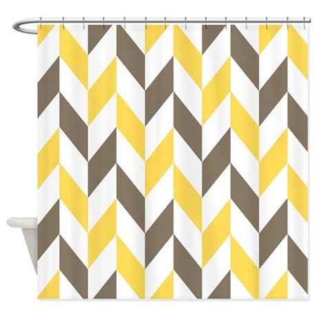 Grey And White Shower Curtains Zig Zag Hooks
